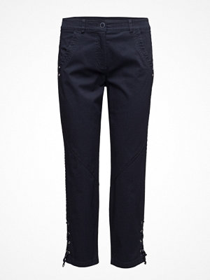 Gerry Weber marinblå byxor Crop Leisure Trouser