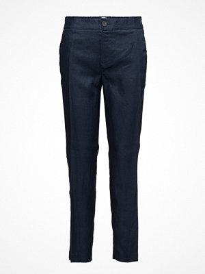 Mango Straight Linen-Blend Trousers