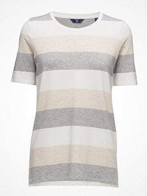 Gant O. Melange Striped C-Neck T-Shirt