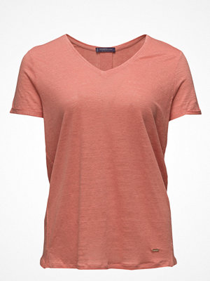 Violeta by Mango Flecked Linen-Blend T-Shirt