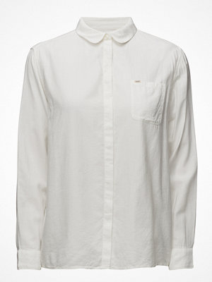 Lee Jeans Plain Shirt White Canvas