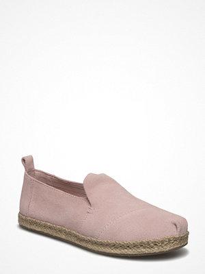 Tygskor & lågskor - Toms Pale Pink Suede Deconstructed Alpargata