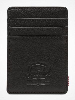 Plånböcker - Herschel Raven Leather Rfid - Black Pebbled Leather