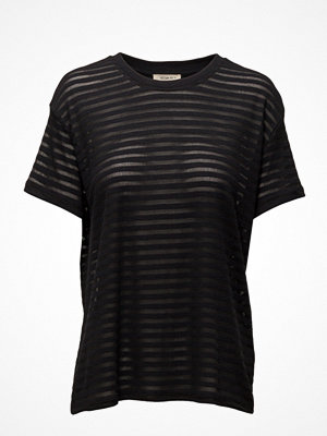 Lee Jeans Sheer Stripe Tee Black