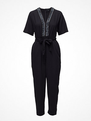 Jumpsuits & playsuits - French Connection Karlo Embellished Tie Waist Jumpsuit