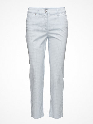 Gerry Weber Edition ljusgrå mönstrade byxor Trousers Leisure Spe