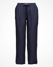 Mango Linen Baggy Trousers