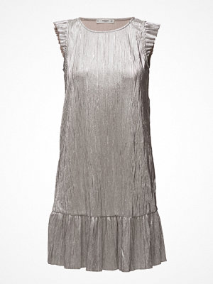 Mango Metallic Pleated Dress