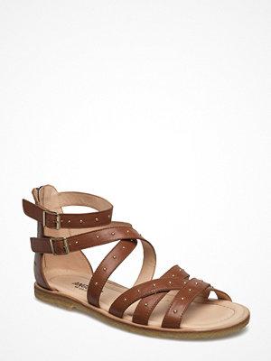 Sandaler & sandaletter - Angulus Sandal With Buckles, Zipper And Rivets