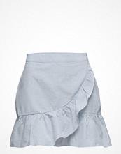 Mango Ruffled Striped Skirt