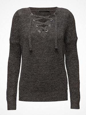 Tröjor - Only Onltrust Lace Up L/S Pullover Knt