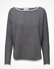 Tröjor - Davida Cashmere Herringbone Curved Sweater