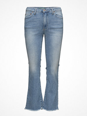 Please Jeans omönstrade byxor Short Cut Light Denim