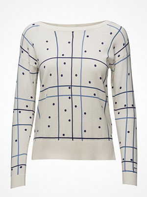 Gant Printed Checked Dot Crew