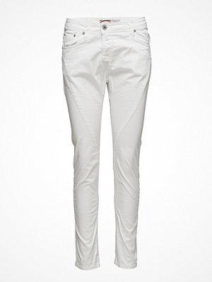 Please Jeans vita byxor Fine Flap Bianco Ottico