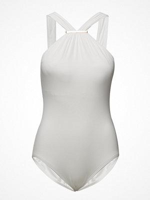 Baddräkter - Michael Kors Swimwear Logo Hi Neck