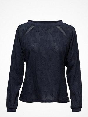 Blusar - Coster Copenhagen Long Sleeve Cotton Jacquard Top