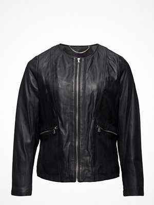 Violeta by Mango Zip Leather Jacket