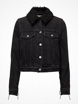 3.1 Phillip Lim Denim Jacket W Sherpa Collar