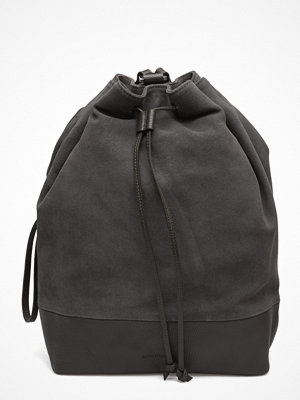 Royal Republiq mörkgrå ryggsäck Bucket Backpack Suede