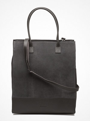 Royal Republiq mörkgrå datorväska New Tote Bag Suede