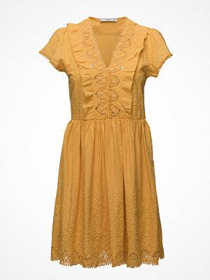 Mango Embroidered Panel Dress