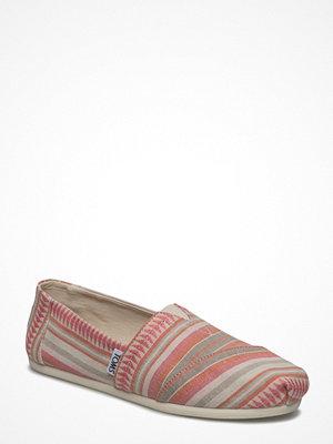 Tygskor & lågskor - Toms Coral Blanket Stripe Alpargata