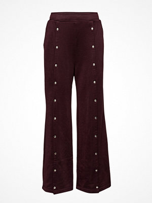 T By Alexander Wang omönstrade byxor Sleek French Terry Wide Leg Pull On Pant W/ Snaps