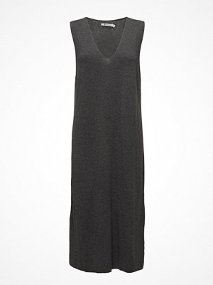 T By Alexander Wang Viscose Blend Half Milanoslvls V-Neck Dress