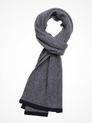 Halsdukar & scarves - Knowledge Cotton Apparel Zig Zag Scarf