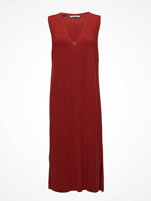 T By Alexander Wang Viscose Blend Half Milanoslvls V-Neck Dress