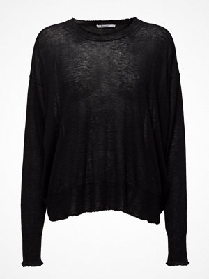 T By Alexander Wang Gauze Cashmere Nylon Knitoversized Crew Pullover