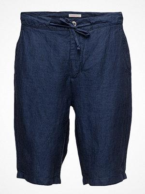 Shorts & kortbyxor - Knowledge Cotton Apparel Loose Yarn Dyed Linen Shorts