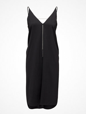 T By Alexander Wang Stretch Viscose Crepe Sleeveless Dress With Chain