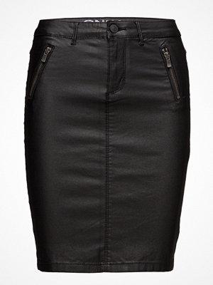 Kjolar - Only Onlroyal Rock Rg Zip Front Pen Skirt Pnt