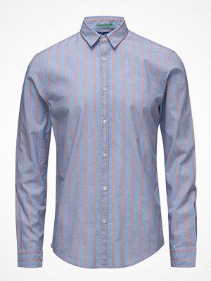 Skjortor - Scotch & Soda Longsleeve Shirt In Crispy Poplin With Special Yarn