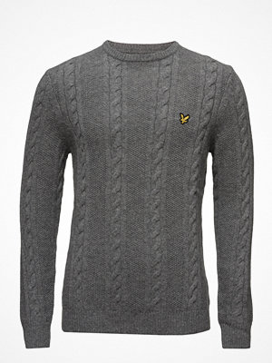 Tröjor & cardigans - Lyle & Scott Crew Neck Lambswool Cable 5gg Jumper