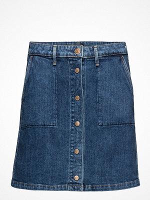 Kjolar - Lee Jeans Button Through Skirt Acid Stone