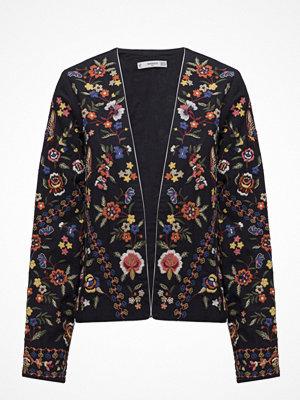 Mango Floral Embroidered Jacket
