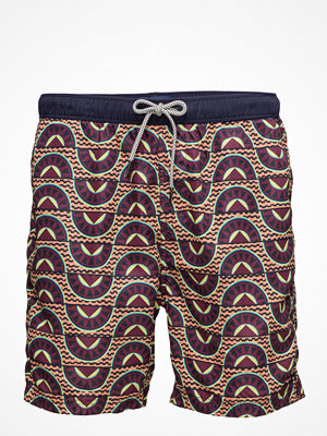 Badkläder - Scotch & Soda Medium Length Swim Short In Fine Peached With Patter