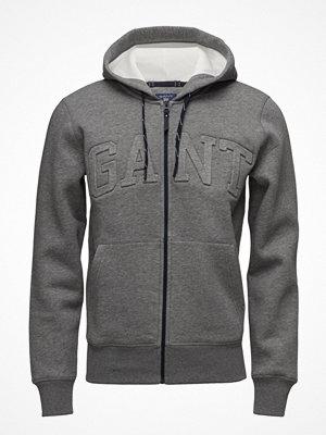Street & luvtröjor - Gant Gant Embossed Full Zip Sweat Hoodie