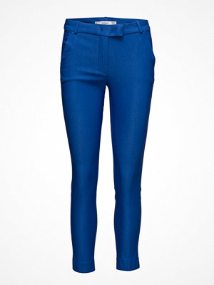 Mango omönstrade byxor Crop Slim-Fit Trousers