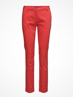 Gant röda byxor O1. Satin Stretch Slack Pant