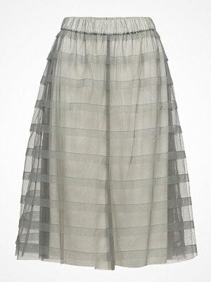 Cathrine Hammel Striped Midi Tulle Skirt