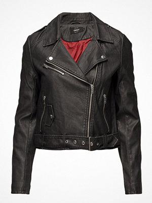 Only Onlluna Crop Faux Leather Biker Otw Noos