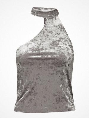 Mango Asymmetric Velvet Top