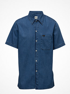 Lee Jeans Ss Shirt Micro Blue