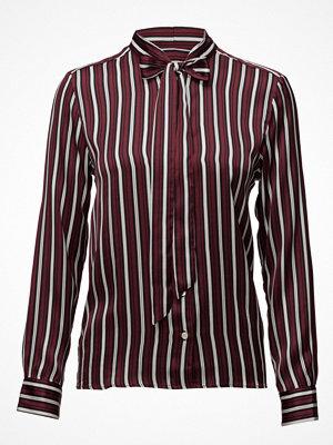 Gant O1. Vertical Striped Bow Blouse