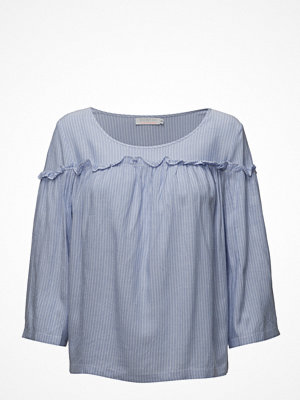 Coster Copenhagen Striped Ruffle Top