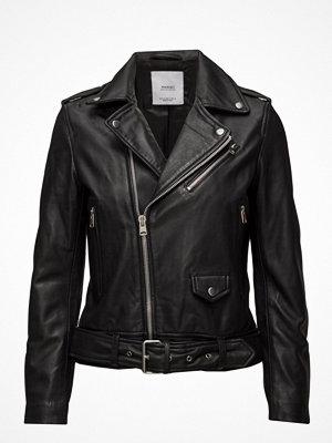 Skinnjackor - Mango Leather Biker Jacket